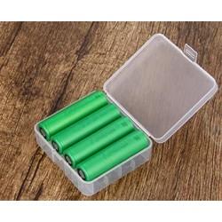 Estuche de plastico baterías 18650 o 26650