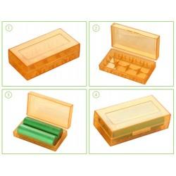 Estuche plastico baterías 18650